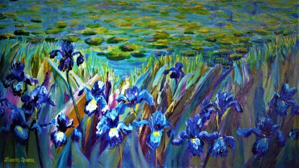 Irises/Lily pond