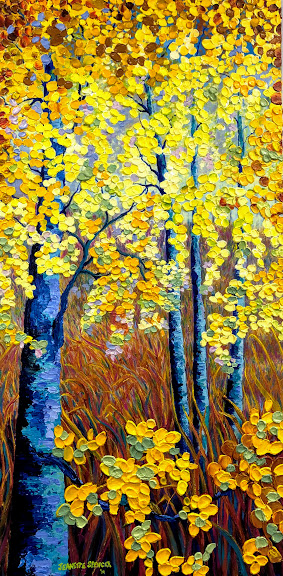 Birches (yellow orange leaves)