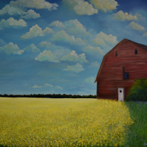 Canola with Barn